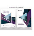 purple triangle abstract annual report brochure vector image vector image