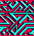 retro red color geometric seamless pattern vector image vector image
