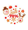 sale 70 percent price more half off reduced cost vector image vector image