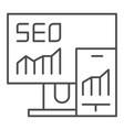 seo thin line icon gadgets vector image vector image