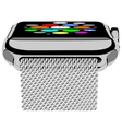 Silver photorealistic smart watch