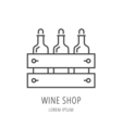 Simple Logo Template Wine Shop vector image vector image