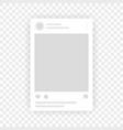 social network photo frame mockup template vector image