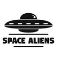 space aliens ship logo simple style vector image vector image