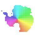 spectral pixel antarctica map vector image vector image