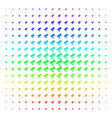 telescope icon halftone spectral effect vector image