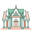 thai temple linecolor vector image vector image