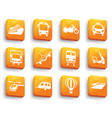 transport icons on buttons vector image vector image