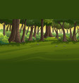 view in forest at sunset vector image vector image