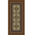 vintage motley carpet with ethnic ornaments and be vector image