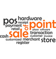 word cloud point of sale vector image vector image