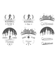 Set of Kickball Logo Badges and Emblems vector image