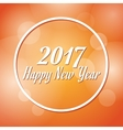 happy new year 2017 greeting card blurred vector image