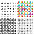 100 architecture icons set variant vector image vector image