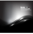 Abstract background black and dark grey curve and vector image vector image