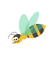 adorable wasp with striped body and transparent vector image vector image