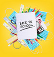 back to school during with pandemic coronavirus vector image