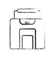 baggage suitcase travel sketch vector image