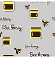 Bank With Honey And Bee vector image