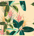 beautiful seamless floral pattern background vector image vector image