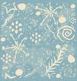 beautiful seamless repeating winter pattern vector image vector image