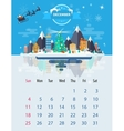 Calendar of december vector image
