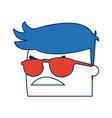 cartoon man business wearing glasses orange vector image
