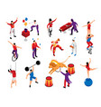 circus isometric set vector image