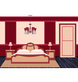 classic bedroom interior in bright colors vector image vector image