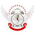 clock alarm emblem vector image vector image