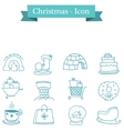 Collection of Christmas set object vector image vector image