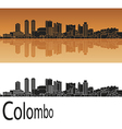 Colombo skyline in orange vector image