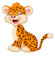 cute cheetah posing cartoon vector image vector image