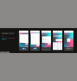 design mobile application ui ux set of vector image vector image
