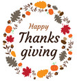 fall thanksgiving frame vector image vector image
