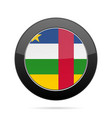 flag of central african republic black button vector image vector image