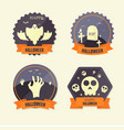 flat design halloween badge collection vector image vector image