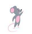 funny cartoon rat symbol chinese new year vector image vector image