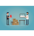 Gay couple moving to a new house vector image vector image