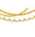 golden garland set vector image