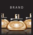 golden perfume realistic packaging vector image
