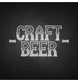 graphic craft beer vector image vector image