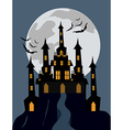 Halloween castle background vector image