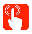 hand with pointed finger and signal wifi signal vector image vector image