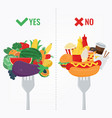 healthy lifestyle concept we are what we eat vector image vector image