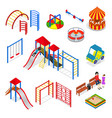kids playground elements set isometric view vector image vector image