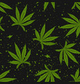 marijuana green leaf seamless pattern cannabis vector image