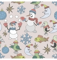 Merry Christmas background Seamless texture vector image