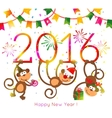 Monkey New Year 2016 vector image vector image