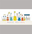 Music Instruments Objects Background vector image vector image